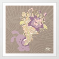 Everything's Coming Out … Art Print