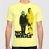 NO WARS Mens Fitted Tee Lemon SMALL