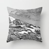 Rugged Mountain Hike Throw Pillow