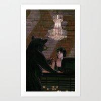 Red River Nightcap Art Print