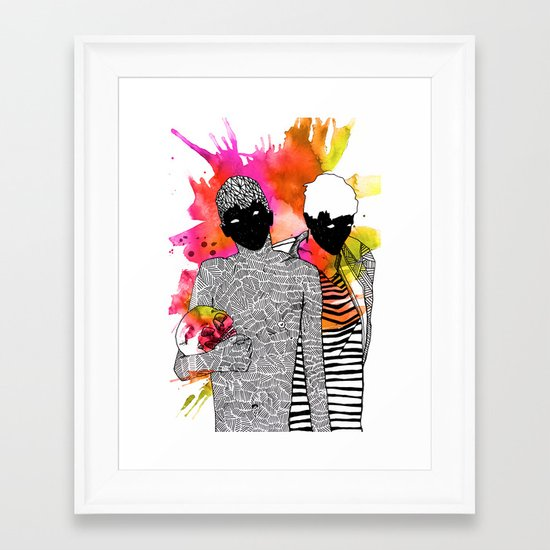 Young Liars 4 Framed Art Print