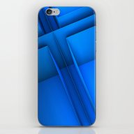 Clean Lines (Blue) iPhone & iPod Skin