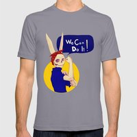 Female Bunnism Mens Fitted Tee Slate SMALL