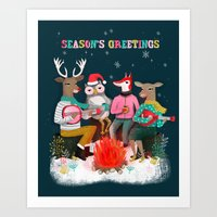 Fireside Christmas By An… Art Print