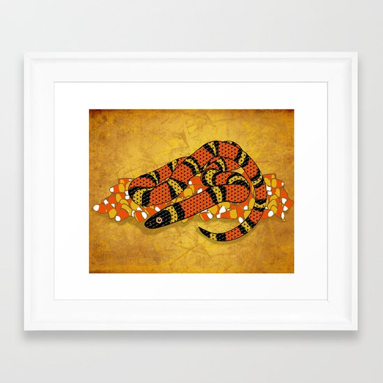Mexican Candy Corn Snake Framed Art Print