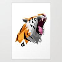 TML Polygon Tiger ROAR!!… Art Print