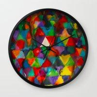 Triangles Wall Clock