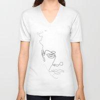Half-a-Basquiat: One line Unisex V-Neck