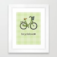 Bicyclelove, no. 1 Framed Art Print