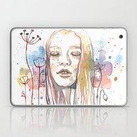 Meditation, Watercolor  Laptop & iPad Skin