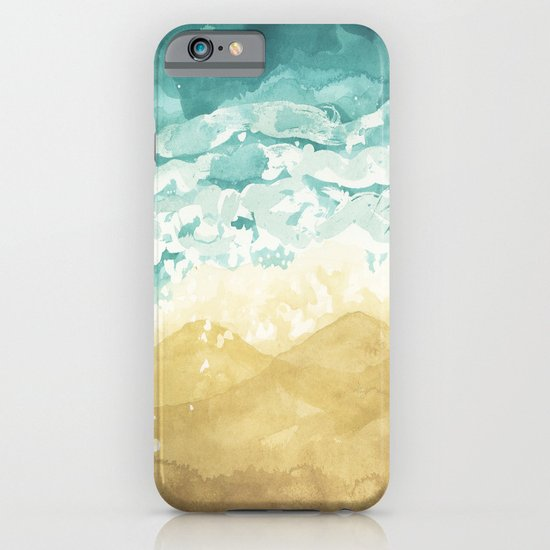 Minimalist Shore - Beach Painting iPhone & iPod Case