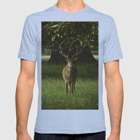 Deer Mens Fitted Tee Athletic Blue SMALL