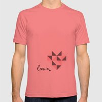 love Mens Fitted Tee Pomegranate SMALL