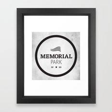 Memorial Park Framed Art Print