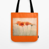 Orange Gerberas Tote Bag