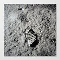 Boot Print on Moon Canvas Print