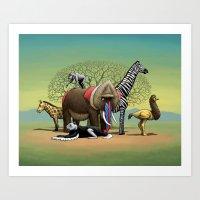 Skin-Swap Safari Art Print