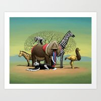 Skin-Swap Safari Art Print