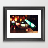 Green Light Framed Art Print