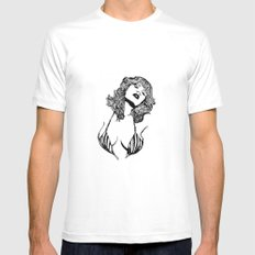 Off Mens Fitted Tee SMALL White
