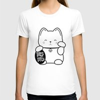 Stay Lucky BLK Womens Fitted Tee White SMALL