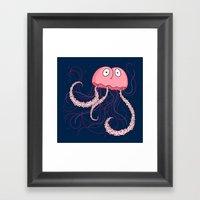 Jellyfish Buttface Framed Art Print