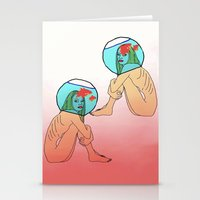 Drowning in a fish bowl Stationery Cards