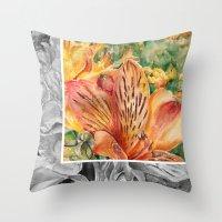 Alstroemeria 3 Throw Pillow