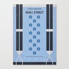 No683 My Wall street minimal movie poster Canvas Print