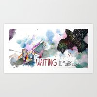 WAITING To See How The W… Art Print