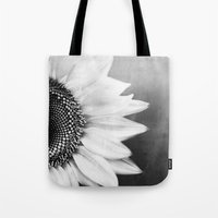 B&W Sunflower Tote Bag