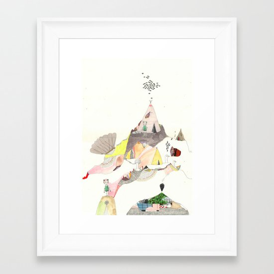 Kids Discover Magic Mountain Framed Art Print