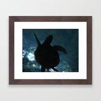 Deep Turtle Framed Art Print