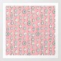 Diamonds in Pink Art Print
