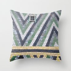 Colorful Rooftop Throw Pillow