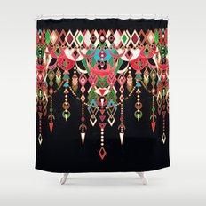 Modern Deco In Red And B… Shower Curtain