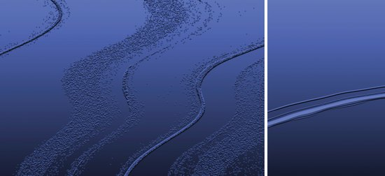 Abstract diptych Blue Canvas Print