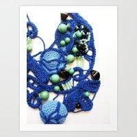Ocean Romanian Point Lace Photography Art Print