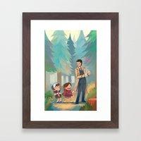 Small Town Adventures Framed Art Print