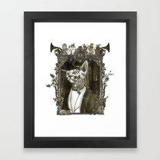 Steampunk Mr. Sphinx Framed Art Print