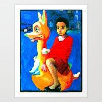 I Traveled Here On A Kangeroo Art Print