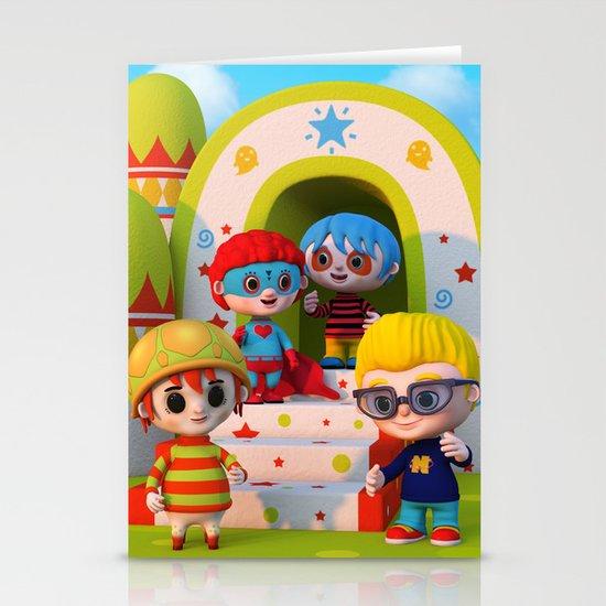 Turtle Boy's Gang Stationery Card