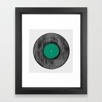Vinyl Record Framed Art Print