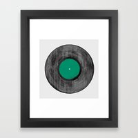 Vinyl Record Framed Art Print