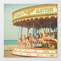 Seaside Carousel Canvas Print