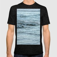 Rocks in Pacific Ocean on the East Coast of Queensland, Australia Mens Fitted Tee Tri-Black SMALL