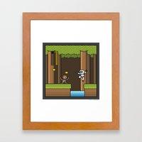 Mega Boss Battles - Chewie vs. Scout Trooper Framed Art Print
