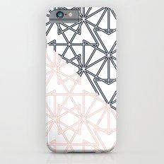 Black and Pink Crop Symmetry Slim Case iPhone 6s