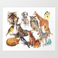 Animal Menagerie Art Print