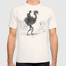 THE DARK COWBOY Mens Fitted Tee Natural SMALL